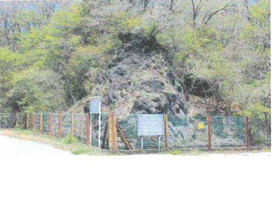 平成22年度南駐車場溶岩崖写真(テキストより)