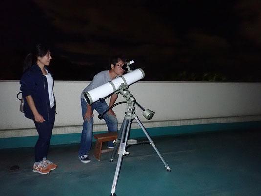反射望遠鏡観察