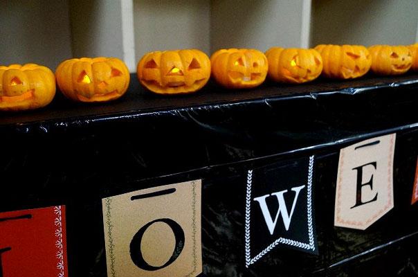 完成したかぼちゃランタン