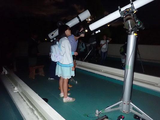 固定望遠鏡観察
