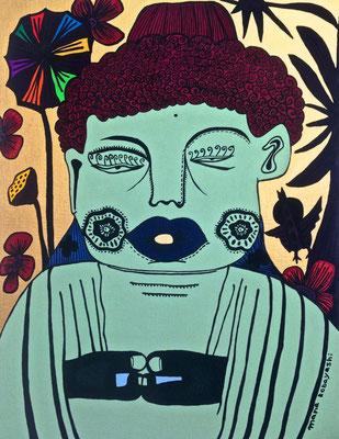 「鎌倉の大仏」 サイズ:6号 アクリル絵の具/キャンバス