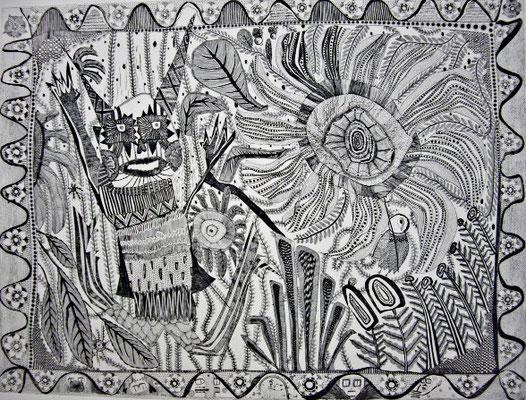 「森」 サイズ44.5×60cm 銅版画/紙/ed10