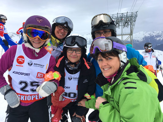 Nicole, Anne-Cécile (copine Mont Blanc), Sylvie, Gilles, Cathy