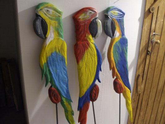 Papagei 95 cm, 49,-€ Gartenaufsteller
