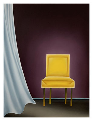 The Empty Chair #4, 70 x 60 cm, Oil on linen, 2021