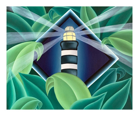 The Lighthouse #1, 2020, Oil on canvas, 38 x 46 cm