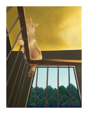 Dreams & Visions #1, 2020, Oil on canvas, 130 x 97 cm ©Photo Maurine Tric