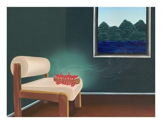 A Quick Love, 2020, Oil on linen, 60 x 81 cm