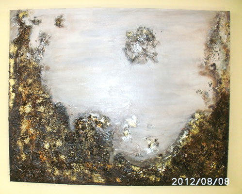 Mond Crater 80 x 100 cm