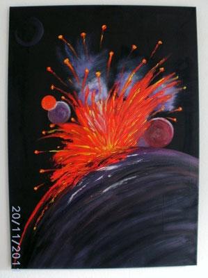 Kosmos - Vulkan 50 x 70 cm