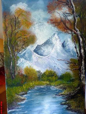 Berge und Wasser 20 x 30 cm