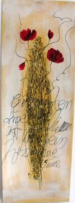 Goldener Mohn 35 x 100 cm