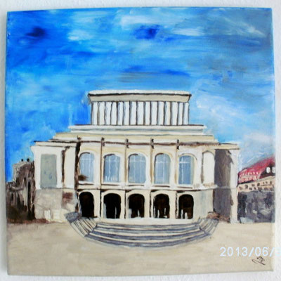 Stadttheater Augsburg 30 x 30 cm