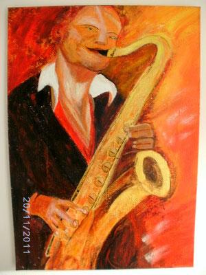Der Saxaphonist 70 x 100 cm