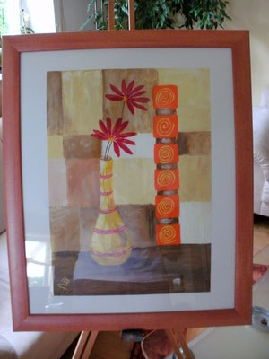 Gerbera in der Vase 30 x 40 cm