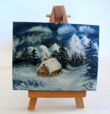 Schnee im Advent 7 x 9 cm