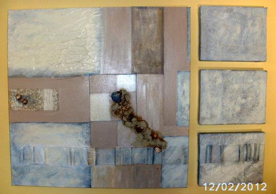 Sand und Meer 110 x 110 cm