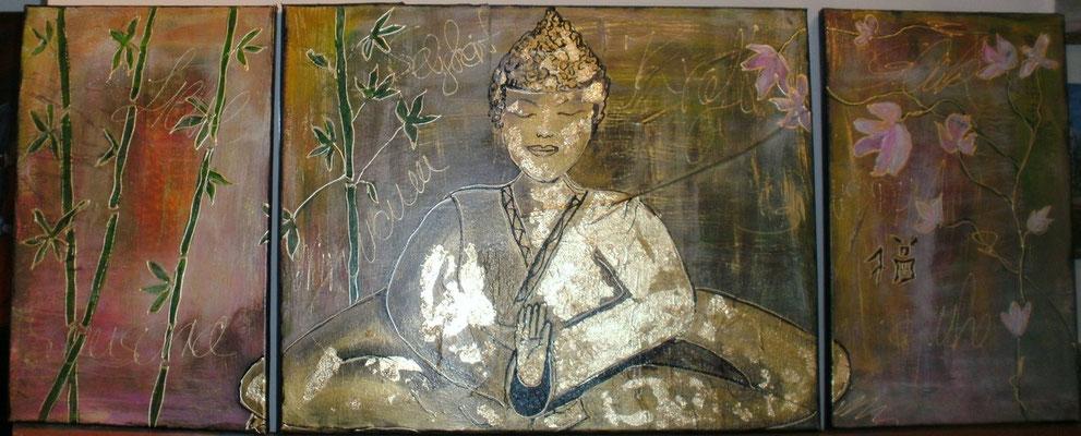 Buddha in Gold 40 x 100 cm
