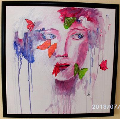 """"""" Butterfly Woman """" 50 x 50 cm"""