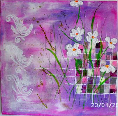 Frühlingsgruß 50 x 50 cm