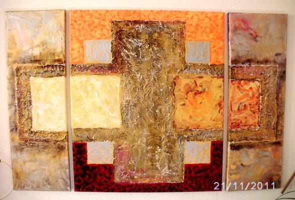 Triptychon für Reichtum 60 x 90 cm