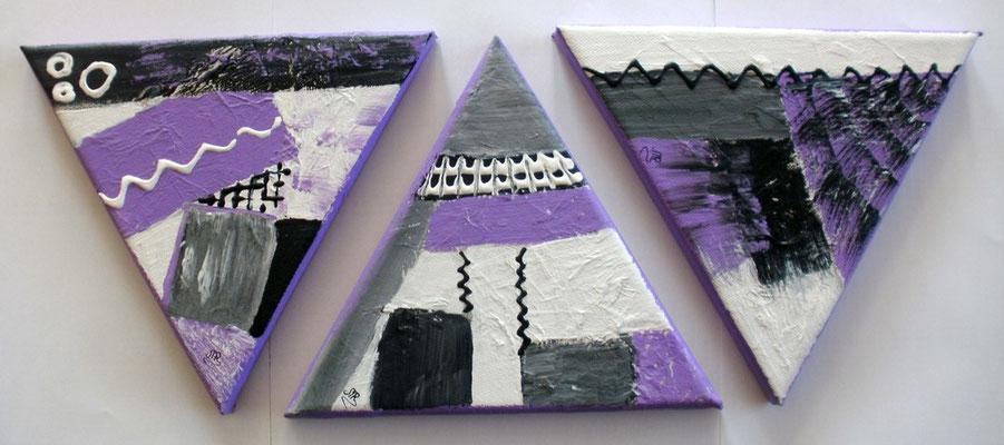 Mosaik im Dreieck 3 x 15 x 15 cm