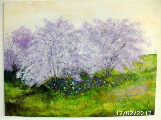 Frühlingsanfang 60 x 80 cm