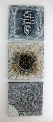 Drei Gestirn 30 x 90 cm