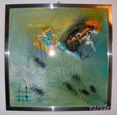 Spuren 40 x 40 cm
