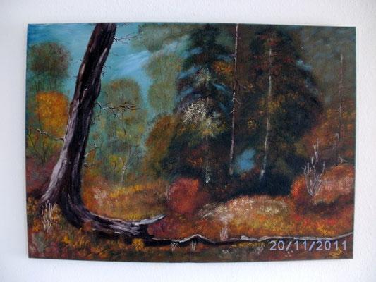 Herbstwald 50 x 70 cm
