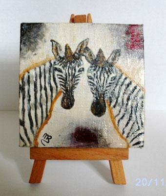 Doppeltes Zebra 8 x 8 cm