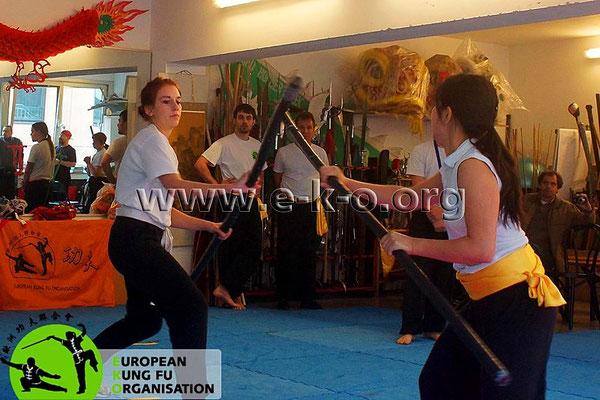 Kung Fu Köln Cup: Langstock Kampf in der Jing Wu Schule Köln