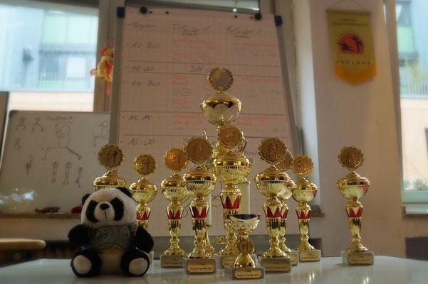 Pokale beim Kung Fu Köln Cup 2017