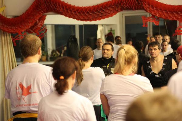 traditionelle Kampfkunst Kung Fu in der Jing Wu Kung Fu Schule Köln