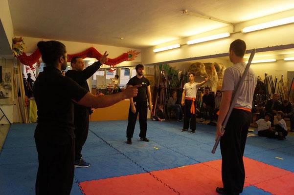 Wettkampf Kategorie beim Kung Fu Köln Cup 2017: Zweihandschwert Kampf