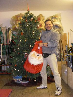 Meister Heek mit Weihnachtssack
