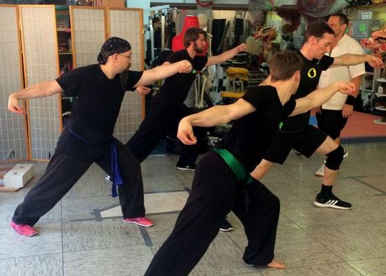 Hung Gar Kung Fu aus Taiwan: Kranich Schlagtechniken mit dem Handrücken