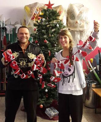 Weihnachtskalender in der Jing Wu Schule Köln