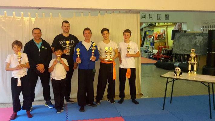 die Pokalgewinner des Kung Fu Köln Cup 2017 in der Jing Wu Kung Fu Schule Köln