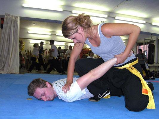 Die Kampfkunst des Mantis Kung Fu beinhaltet  die gesamte Palette der Kampftechniken: Handtechniken, Fußtechniken, Hebeltechniken, Bodentechniken