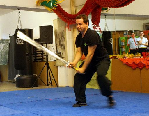 Kung Fu Waffe Zweihandschwert