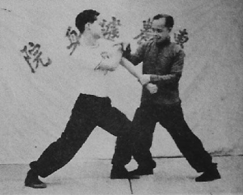 Seltenes historisches Foto von Meister Ng Wai Nung mit Großmeister Ng Kwan Bok