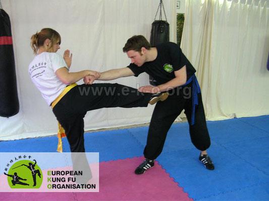 Kampfkunst Kung Fu: Technik der Selbstverteidigung