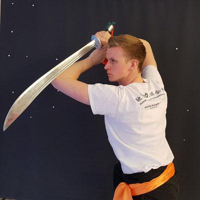 Säbeltechnik des Mantis Kung Fu