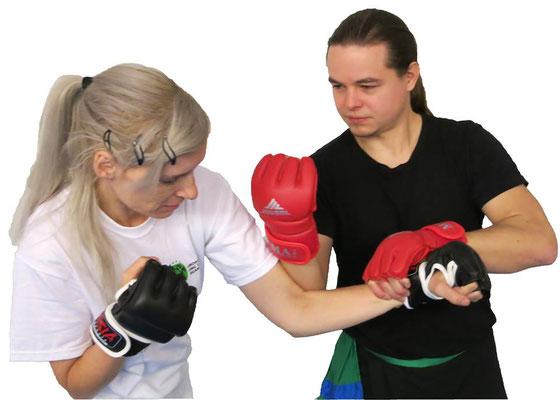 Kampfpsort, Kampfkunst: Partnertechnik mit Hebel