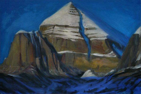 3. Kailash, Gouache +Acryl auf Leinwand, 60 x 90 cm 2012