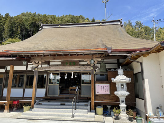 富士川町の隆運寺。家具工房ZEROSSO、コンパクトなお仏壇、お仏壇の閉眼供養。