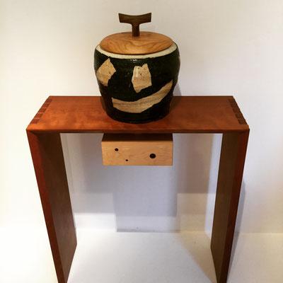 森下真吾&清水泰 コラボレーション作品の大作です。「蓋物」の王様。Gallery ZEROSSO、家具工房ZEROSSO内