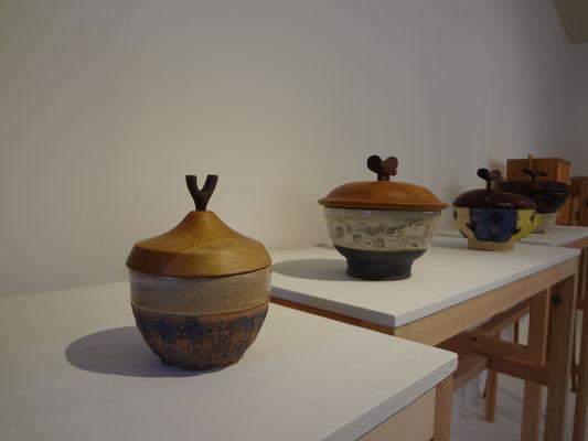 FUTAMONO-YA、蓋物。森下真吾&清水泰のコラボレーションブランド。八ヶ岳の家具工房ZEROSSOの創作家具、モダンなお仏壇、オリジナルの茶道具、アート作品。