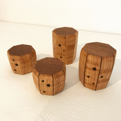 八角形の薄器/八ヶ岳の家具工房ZEROSSOの茶道具